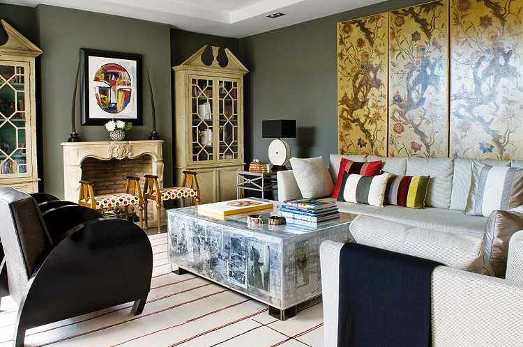 Eclectic. Outstanding Refined Eclectisism In Madrid Penthouse Interior  Design