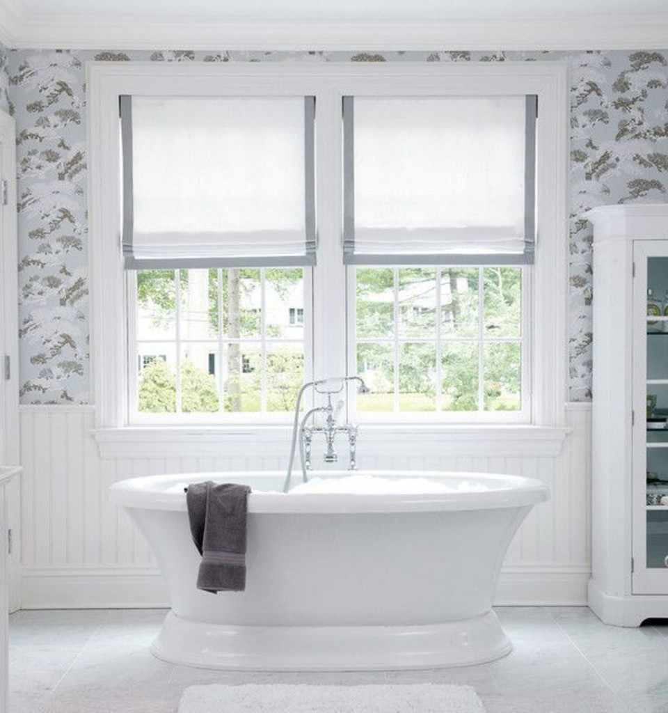 Grey-bathroom-curtains-nice-white-and-grey-roman-shades