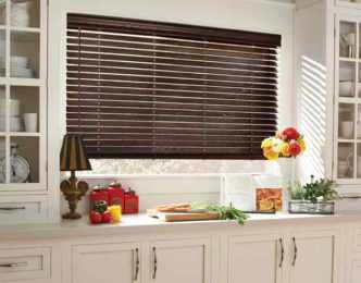 Parkland™ Reflections wood blinds - Charcoal