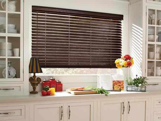 Parkland Reflections Wood Blinds Charcoal